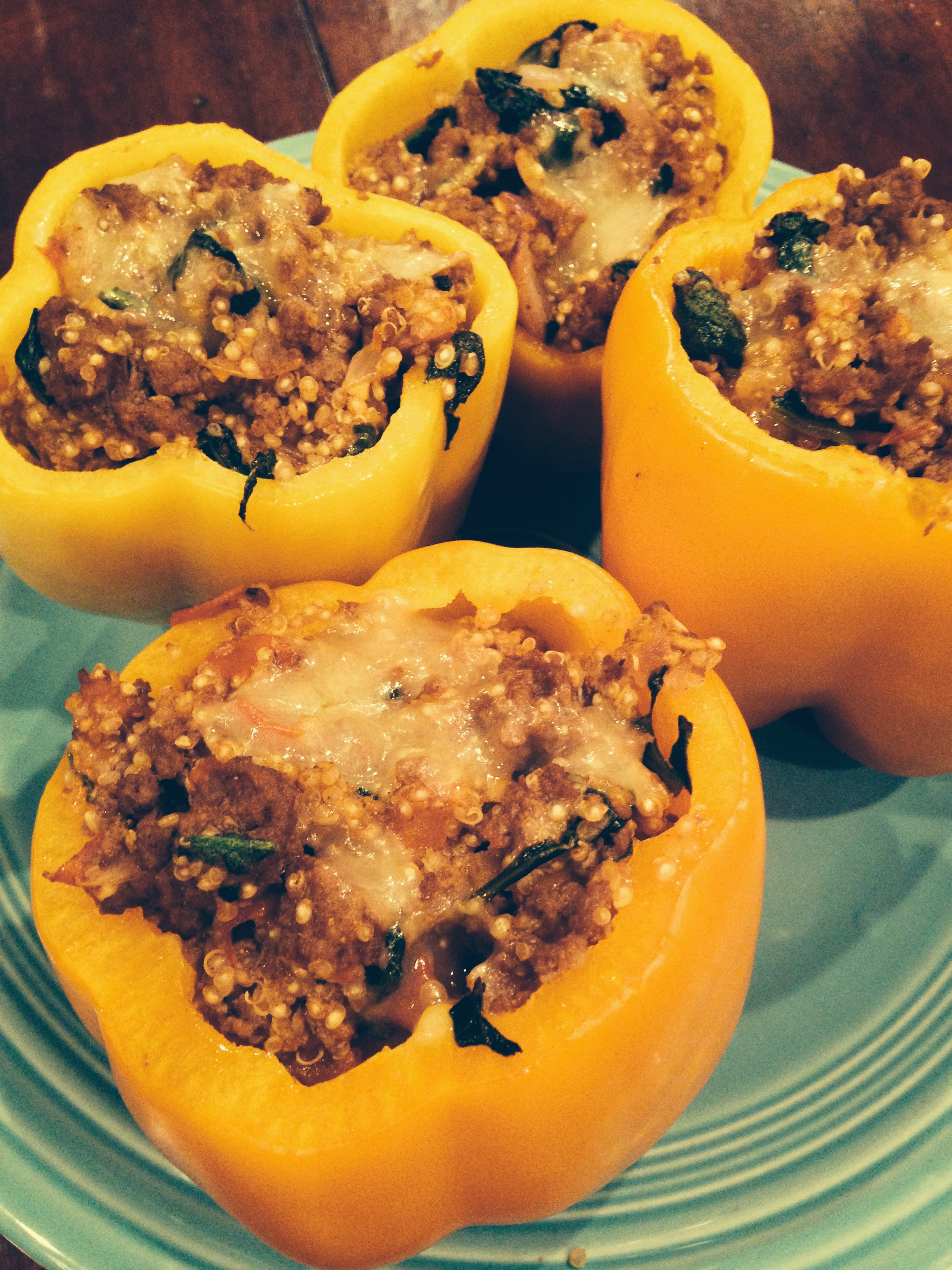 Turkey Stuffed Roasted Peppers