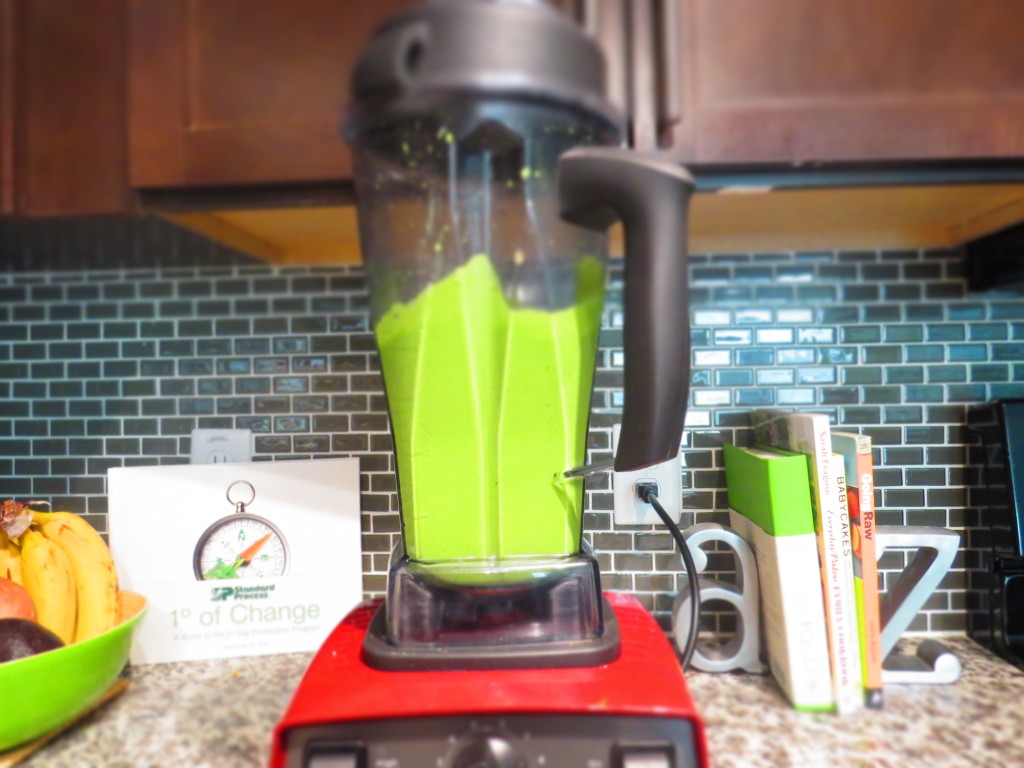 Blended Green Smoothie in my kitchen