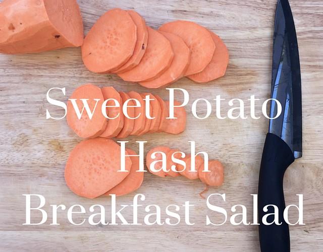 Sweet Potato Hash Breakfast Salad (Gluten-free, Grain-free, Dairy-free)